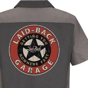 Red Kap Mechanic Garage Work Shirt